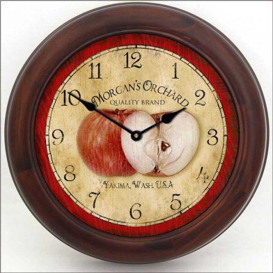 Apple Clock brn frm