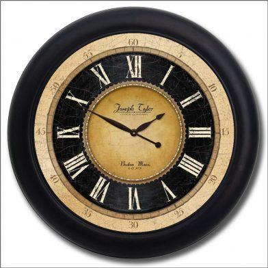 Augustus Clock blk frm