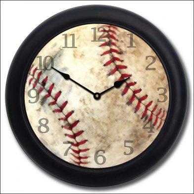 Baseball Clock blk frm