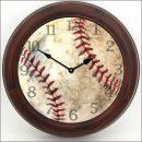 Baseball Clock brn frm
