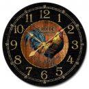 Black & Wood Rooster Clock