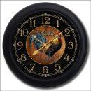 Black & Wood Rooster Clock blk frm