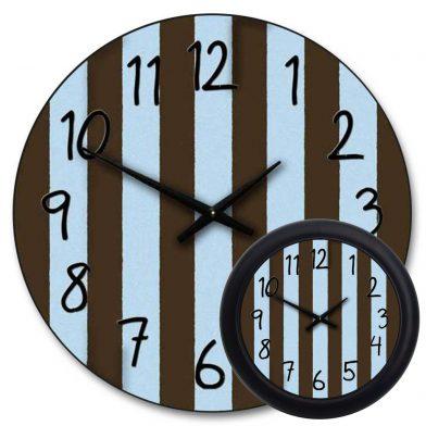 Blue & Brown Stripe Clock mix