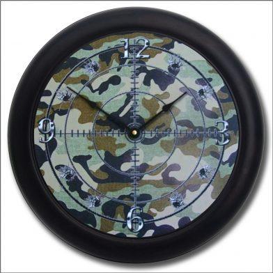 Camo Clock blk frm