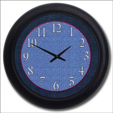 Denim Clock blk frm
