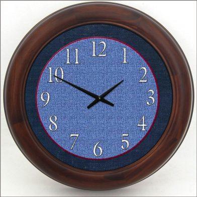 Denim Clock brn frm