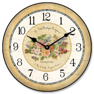Emilie Floral Clock
