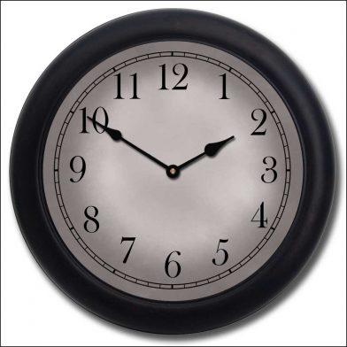 Gibraltar Gray Clock blk frm