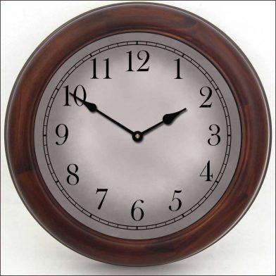 Gibraltar Gray Clock brn frm