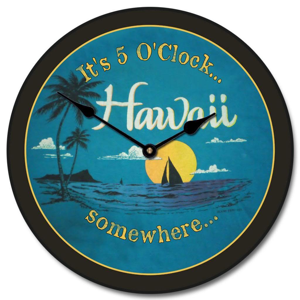 Hawaii Beach Clock   The Big Clock Store