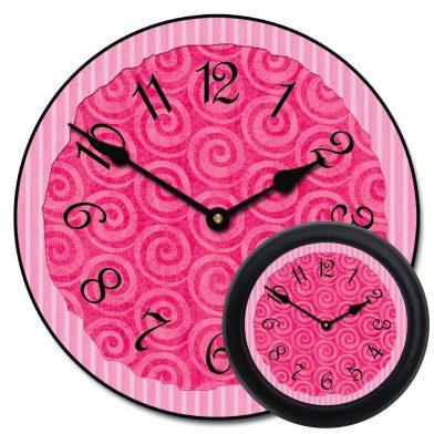 Hot Pink Swirl Clock mix