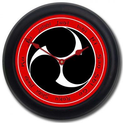 Karate Clock 2 blk frm