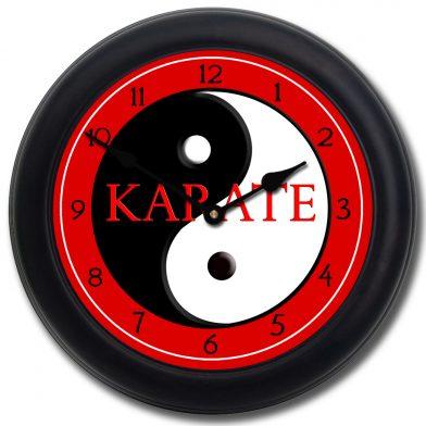 Karate Clock blk frm