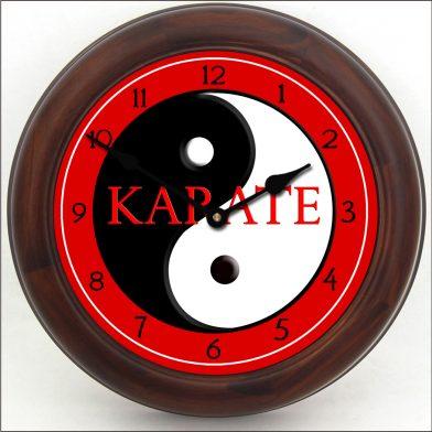 Karate Clock brn frm