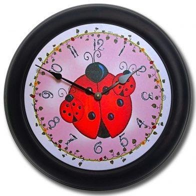 Lady Bug Clock blk frm