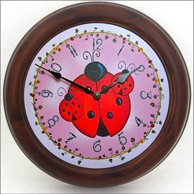 Lady Bug Clock brn frm