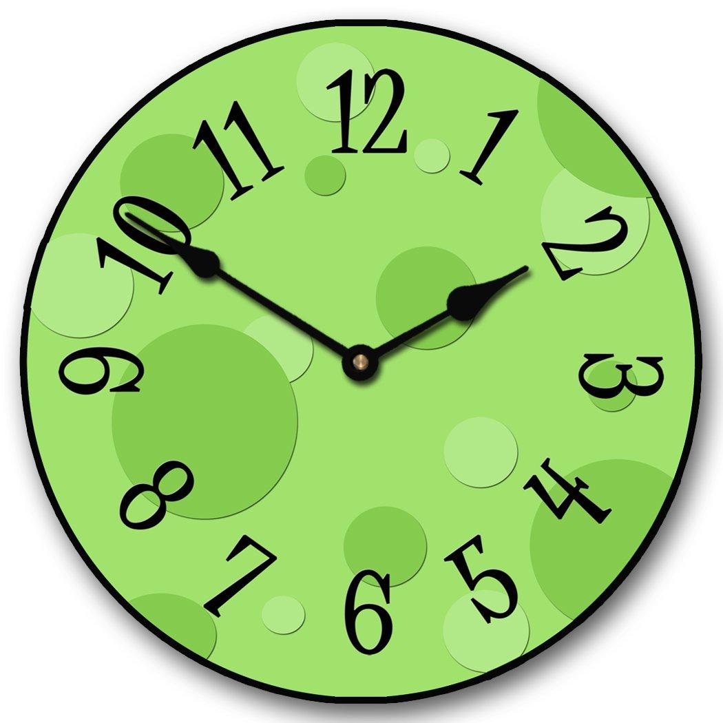 Lime Green Bubbles Clock The Big Clock Store
