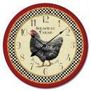 Little Black Hen Clock
