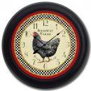 Little Black Hen Clock blk frm