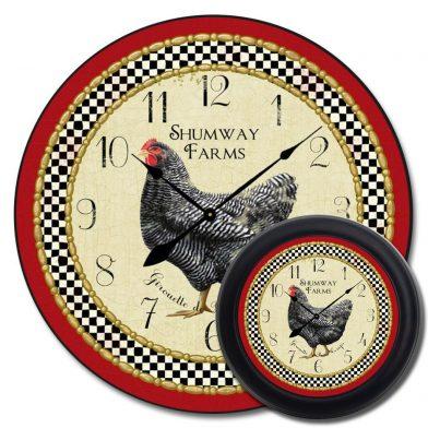 Little Black Hen Clock mix