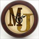 Monogram Clock Brown brn frm