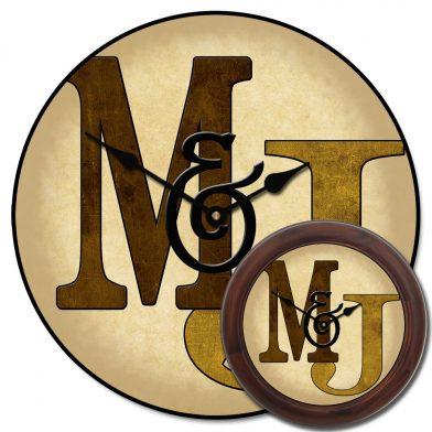 Monogram Clock Brown mix