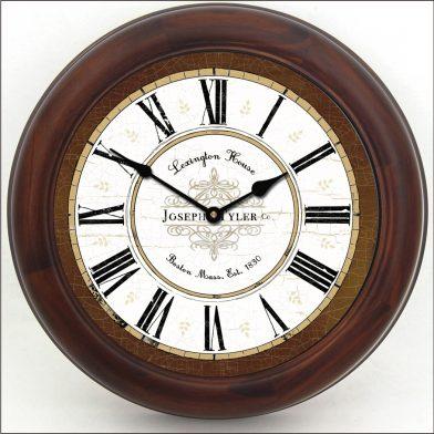 Vermont Brown Clock brn frm