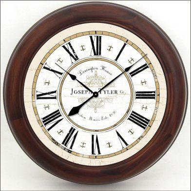 Vermont White Clock brn frm