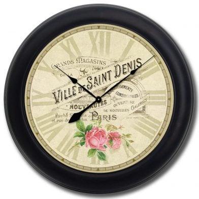 Ville de St Denis Clock blk frm