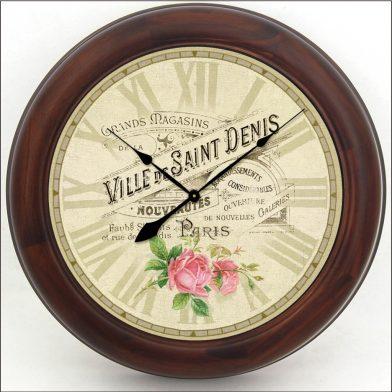 Ville de St Denis Clock brn frm