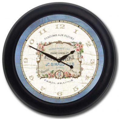 Vintage Perfume Clock blk frm