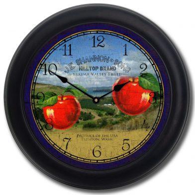 Washington Apple Clock blk frm