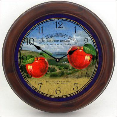 Washington Apple Clock brn frm