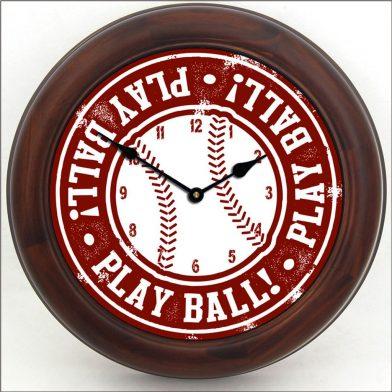 Baseball 2 Clock brn frm