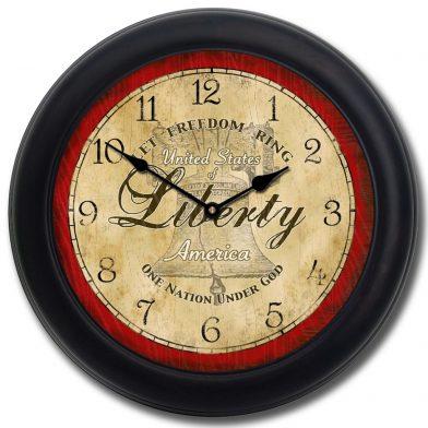 Liberty Clock blk frm