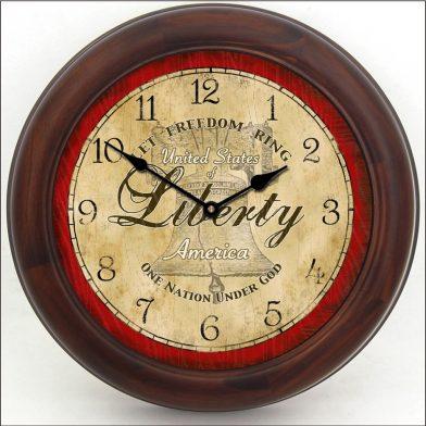 Liberty Clock brn frm