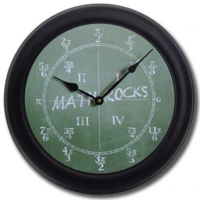 Math Clock blk frm