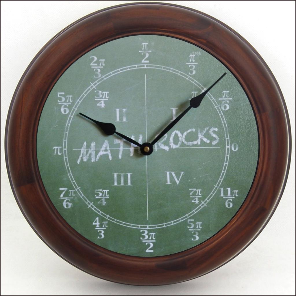 Math Wall Clock | Trig Clock | The Big Clock Store