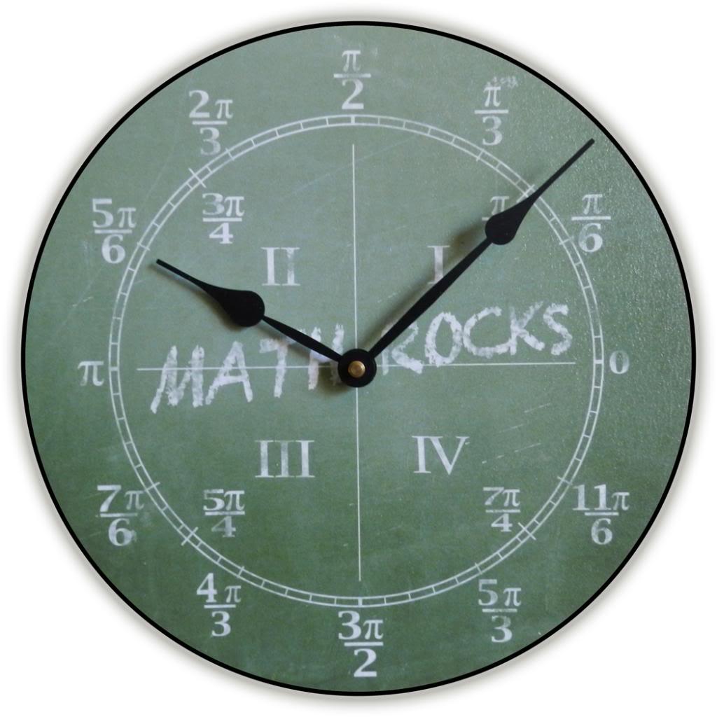 worksheet Clock Math math wall clock trig the big store