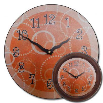 Orange Circles Clock mix