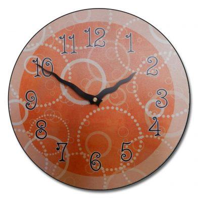 Orange Circles Clock