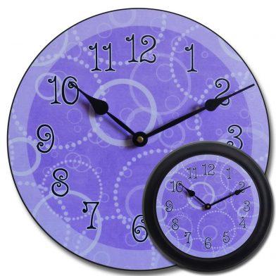 Purple Circles Clock mix