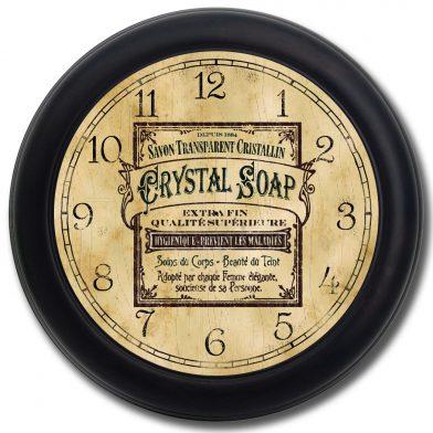 Vintage Soap Ad Clock blk frm