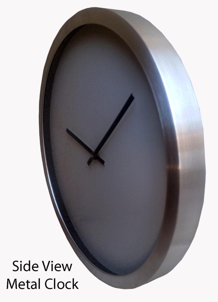 the metal framed clock