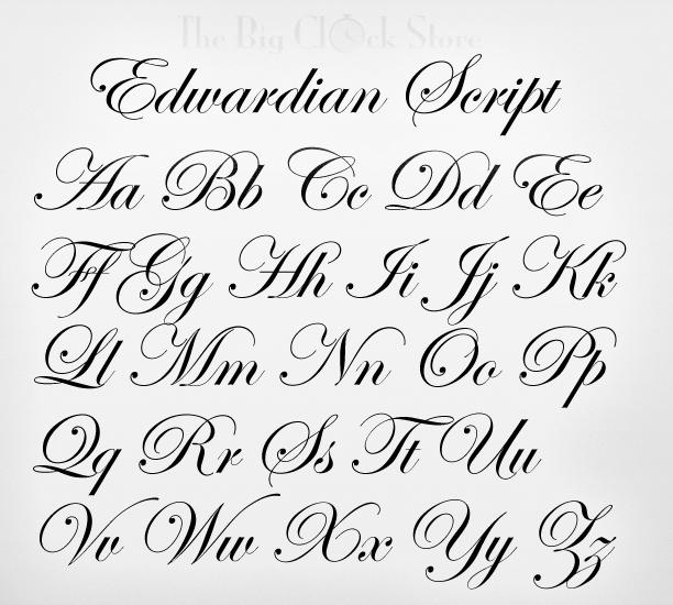 Edwardian script web font
