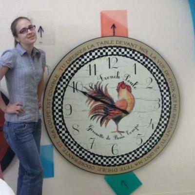Huge Rooster clock