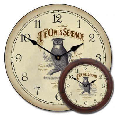 Owl Serenade Clock mix