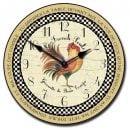 Romantic Rooster Tan Clock