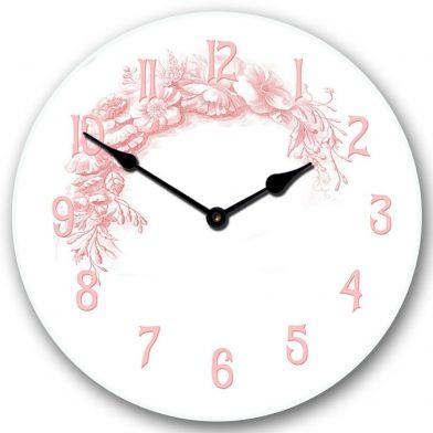 Shabby Chic Pink Clock