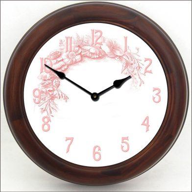 Shabby Chic Pink Clock brn frm